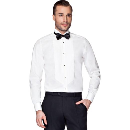Koszula męska Lancerto z długim rękawem biała bawełniana  HNLb6