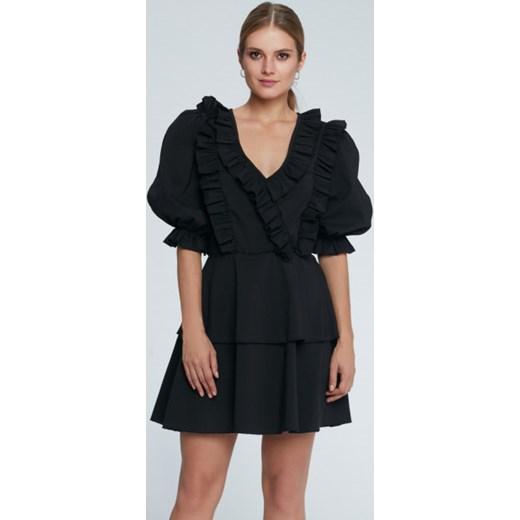 bfdb12f364 Sukienka Maare czarna na lato z długim rękawem w Domodi