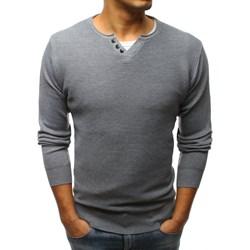 22480920af9f5 Sweter męski szary Dstreet jesienny
