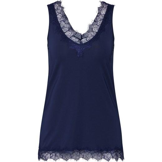 0dbb503b1f Bluzka damska Rosemunde niebieska z dekoltem v koronkowa w Domodi