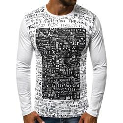 e196ae3044fe T-shirt męski Ozonee.pl z długim rękawem młodzieżowy szary na lato
