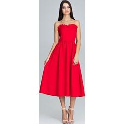 bec15b0622ddc7 Czerwone sukienki z gorsetem, lato 2019 w Domodi