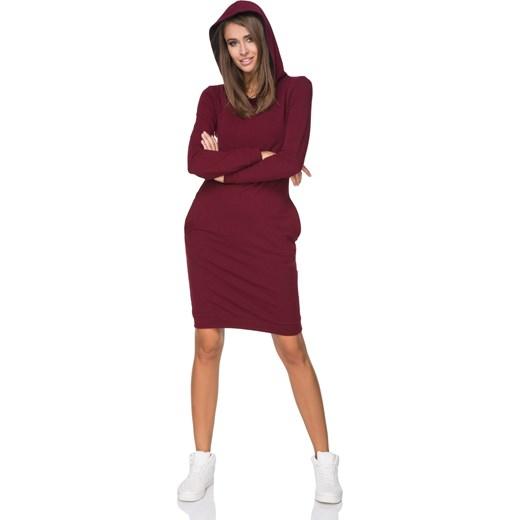 9fe91df14d Sukienka sportowa z długimi rękawami bawełniana w Domodi