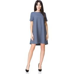 68aea08769 Sukienka z elastanu oversize niebieska
