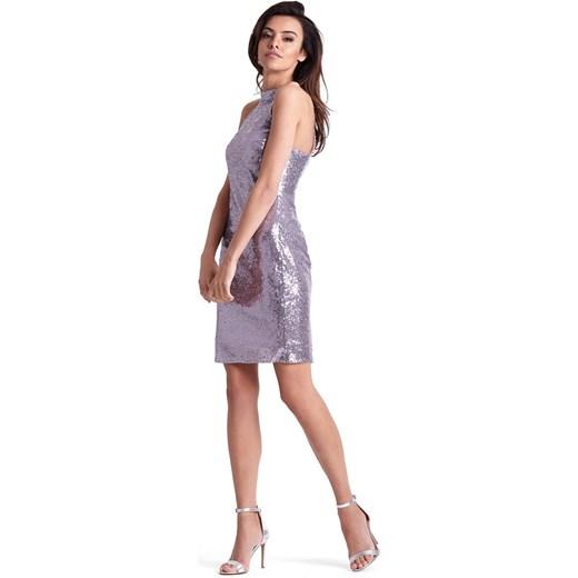 b0c020e459 Sukienka Jestes Modna z okrągłym dekoltem na sylwestra w Domodi