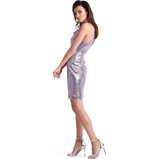 c6f503bacd ... sylwestra dopasowana  Sukienka Jestes Modna glamour z okrągłym dekoltem  ...