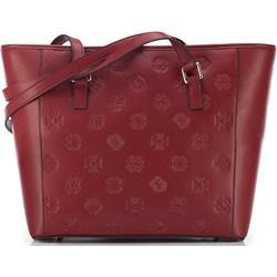 8434060a04a41 Shopper bag czerwona Wittchen ze skóry na ramię