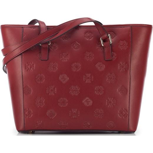 b223168de33e Shopper bag czerwona Wittchen ze skóry na ramię w Domodi