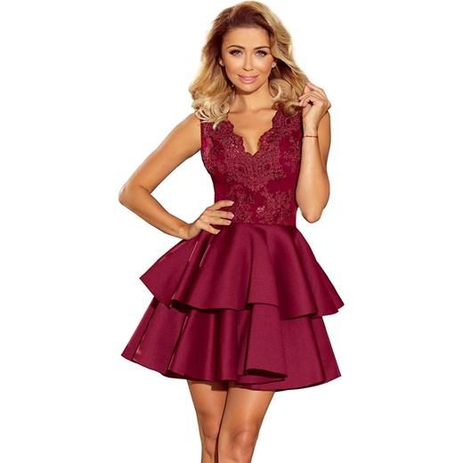 ce00a15b Sukienka Numoco mini rozkloszowana elegancka na bal bez rękawów