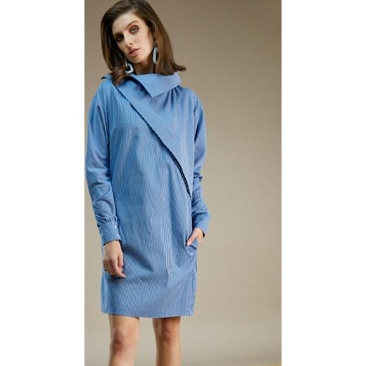 71fb9809b1 Sukienka Framboise bawełniana w paski mini luźna w Domodi