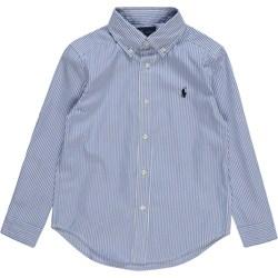 ce316cbfe Niebieskie koszule chłopięce z długim rękawem polo ralph lauren ...