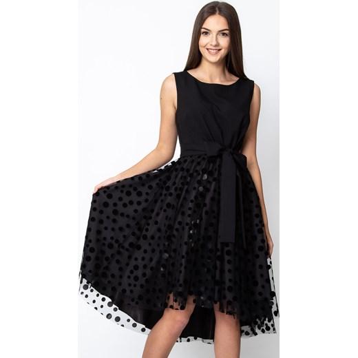 a14aaad211 Sukienka Quiosque bez rękawów midi z okrągłym dekoltem rozkloszowana ...