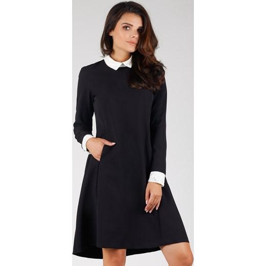 78456f53d2 Sukienka Pepe elegancka czarna do pracy luźna w Domodi