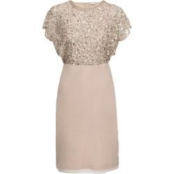 27abec5b88 Sukienka BODYFLIRT tiulowa prosta z krótkimi rękawami midi z okrągłym  dekoltem