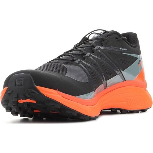 Buty trekkingowe damskie Salomon bez wzorów czarne sportowe