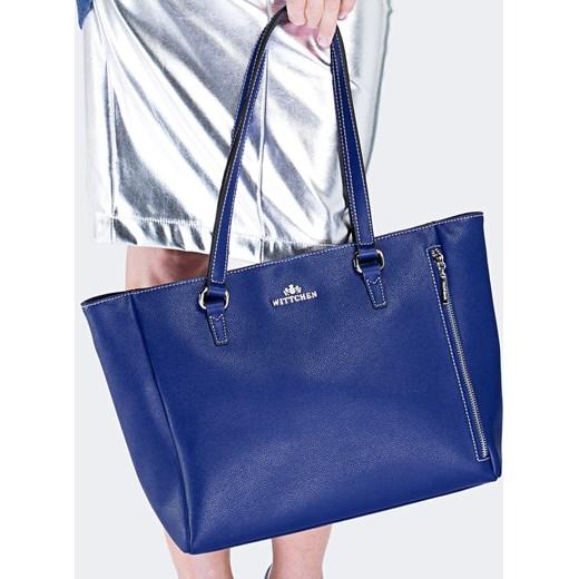 46612ba68d38e Shopper bag Wittchen elegancka bez dodatków na ramię ze skóry w Domodi