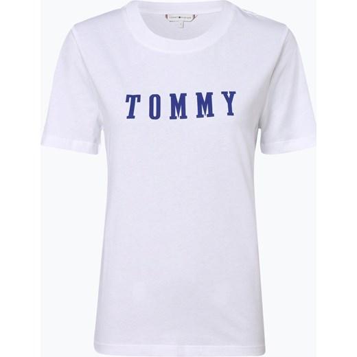 ecfcd1cc3aa33 Bluzka damska Tommy Hilfiger wiosenna z napisami z okrągłym dekoltem ...