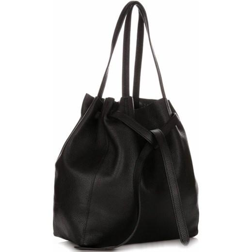 58c305960ba9d Torebka Genuine Leather matowa na ramię elegancka mieszcząca a8 w Domodi