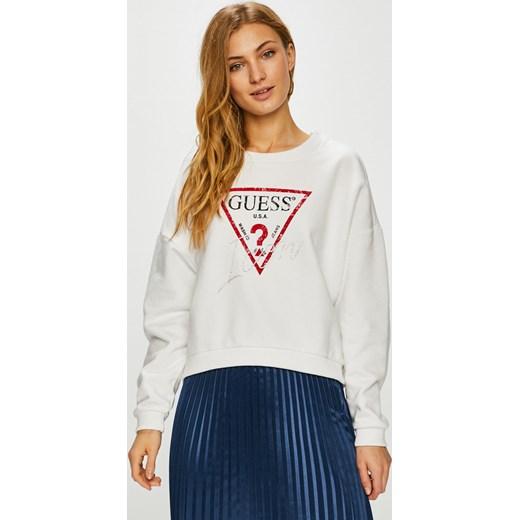 71a1c6ba0dc80 Bluza damska Guess Jeans jeansowa biała młodzieżowa krótka w Domodi