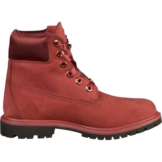 ... Workery damskie czerwone Timberland na platformie casual jesienne  sznurowane skórzane ... 63f35267fb5