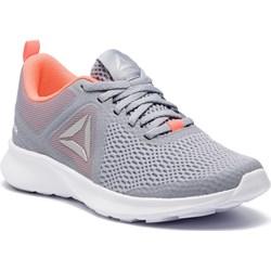 ebf6da793d9d0 Buty sportowe damskie Reebok dla biegaczy sznurowane z tworzywa sztucznego  w geometryczny wzór na koturnie ...
