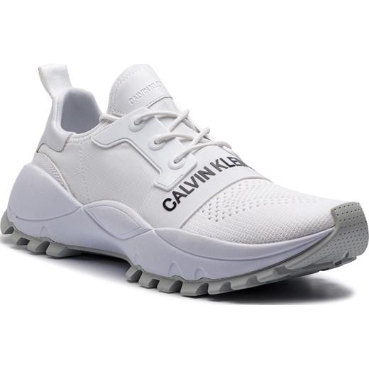 Buty sportowe damskie Calvin Klein wiązane dzianiny