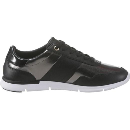 355c31b585b75 ... Buty sportowe damskie Tommy Hilfiger sneakersy młodzieżowe na płaskiej  podeszwie skórzane sznurowane ...