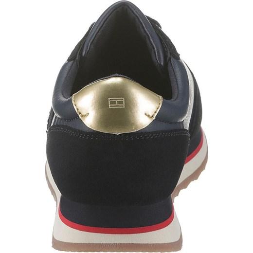 3a659b184c430 ... Buty sportowe damskie Tommy Hilfiger sneakersy młodzieżowe na  platformie sznurowane zamszowe ...