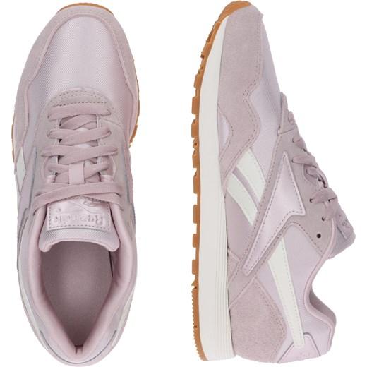 cecb86c4 ... Buty sportowe damskie Reebok Classic sneakersy w stylu młodzieżowym ze  skóry na platformie bez wzorów ...