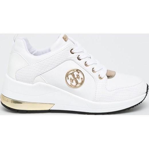 Sneakersy damskie Guess białe skórzane