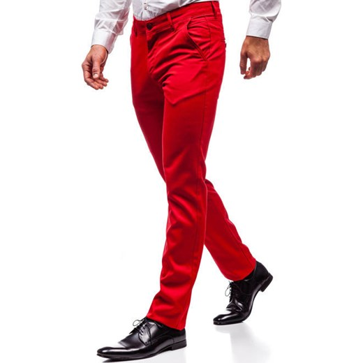 583ee1a7b71a1a Denley spodnie męskie czerwone w Domodi
