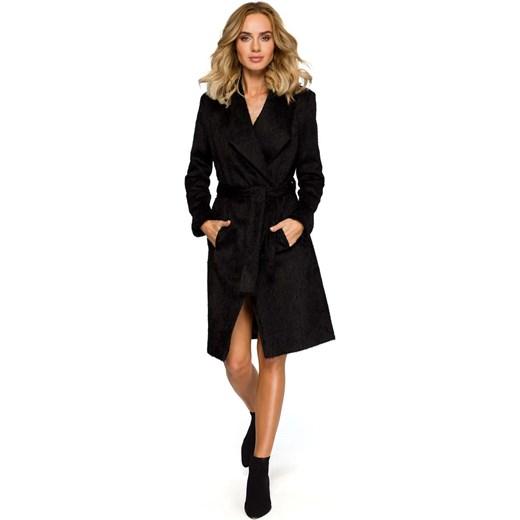czarny płaszcz damski ootd