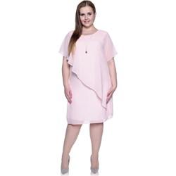 b4efc8a7f3 Sukienka bez wzorów z krótkimi rękawami midi na studniówkę oversize owa