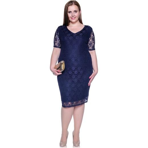 1abfdb427a Sukienka do pracy z wiskozy dopasowana elegancka w Domodi