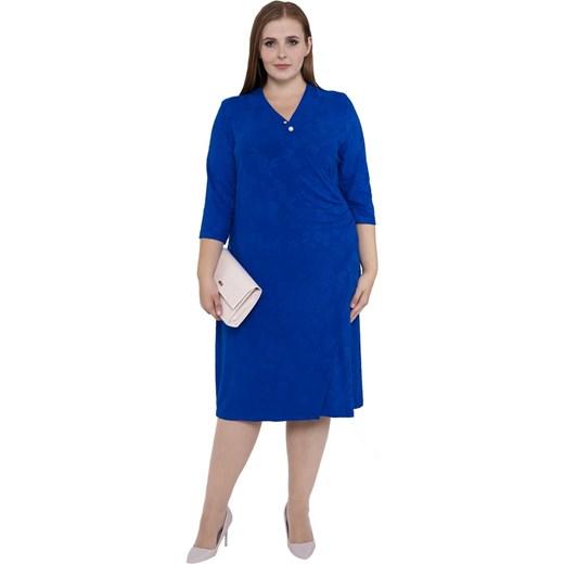 f373f827b5 Sukienka niebieska z długim rękawem midi w Domodi
