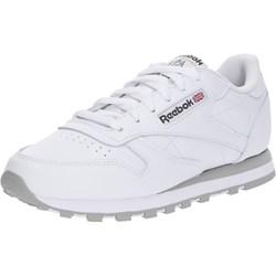 ee512a6d Buty sportowe damskie Reebok Classic sneakersy w stylu młodzieżowym płaskie  bez wzorów ze skóry sznurowane