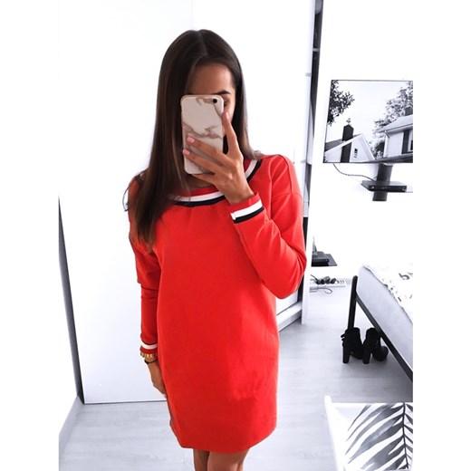 2fb484839e Sukienka Magmac z okrągłym dekoltem w paski  Sukienka asymetryczna ...
