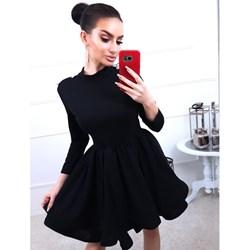 e58b1c2e8d Sukienka Magmac rozkloszowana w rockowym stylu z okrągłym dekoltem