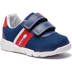 996e94e88c690 Buty sportowe dziecięce Geox niebieskie z tworzywa sztucznego na rzepy ...