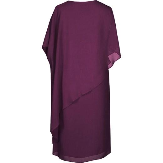 4c4256a449 ... Sukienka dla puszystych midi z wiskozy. Sukienka fioletowa ...