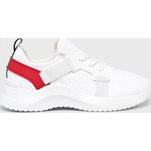 49e4f538f610 Białe buty sportowe damskie Calvin Klein płaskie bez wzorów w Domodi