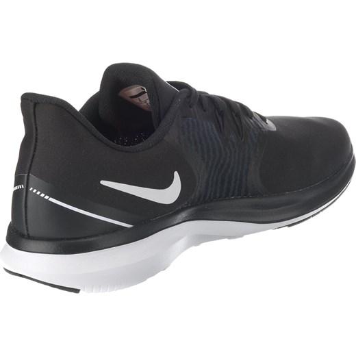 Buty sportowe damskie Nike do biegania czarne sznurowane z gumy na płaskiej podeszwie