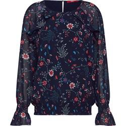 6f3f2b2e98c382 Bluzka damska S.oliver Red Label z szyfonu w kwiaty na wiosnę z okrągłym  dekoltem