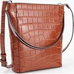 6921597264ce3 Reserved - Torebka z teksturą skóry krokodyla - Pomarańczo - zdjęcie  produktu