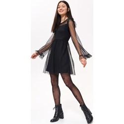 f22c603547a3e1 Sukienka Troll z długim rękawem trapezowa z tiulu