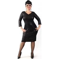 9687b16f39 Czarne sukienki dzianinowe dla puszystych