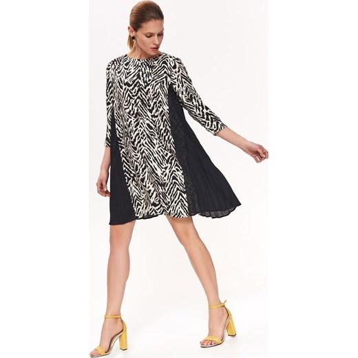 9d6317b7fb1188 Sukienka Top Secret z długim rękawem z okrągłym dekoltem na co dzień ...