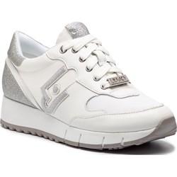 fe4023c9 Sneakersy damskie Liu•jo na koturnie białe bez wzorów sportowe ...
