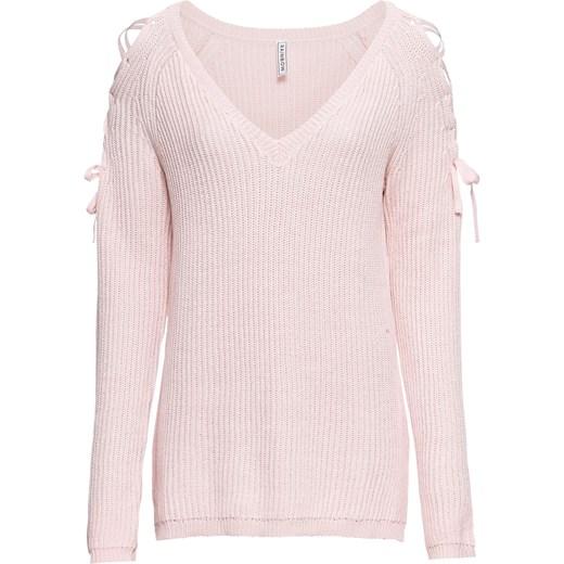 7c2f4e909e8e21 Sweter damski różowy Rainbow w Domodi