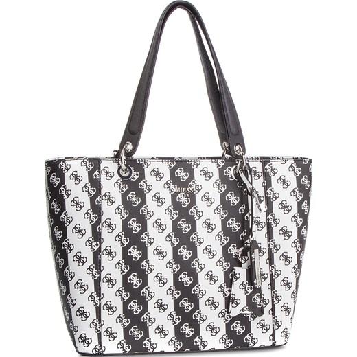 dfeb909dace5d Shopper bag wielokolorowa Guess mieszcząca a6 z breloczkiem casual w ...